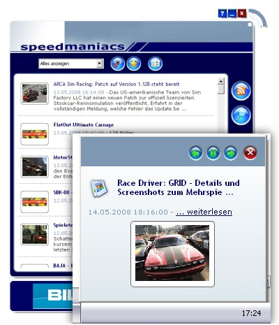 Speedmaniacs NewsReader Detailansicht