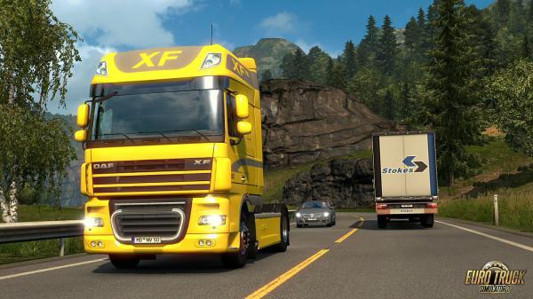 euro truck simulator 2 daf xf 105 berarbeitet neue. Black Bedroom Furniture Sets. Home Design Ideas