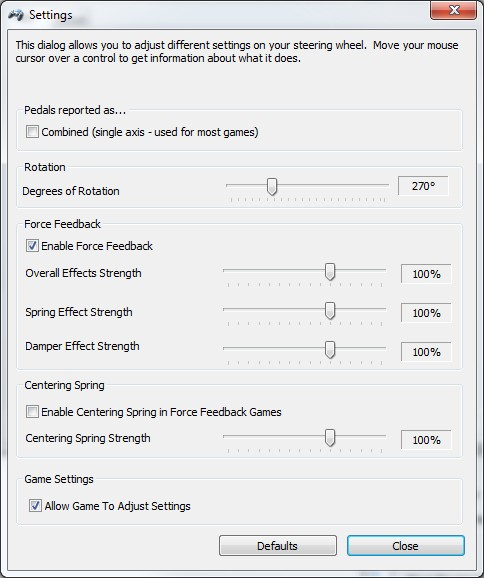 Project Cars In Game Wheel Settings